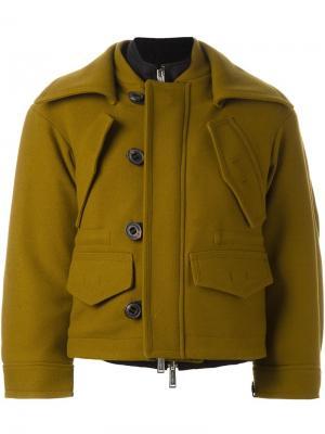 Драпированная куртка Dsquared2. Цвет: зелёный