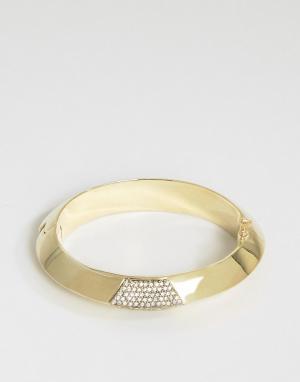 House of Harlow Золотистый браслет-манжета. Цвет: золотой