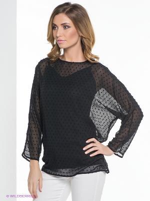 Блуза ELENA FEDEL. Цвет: черный
