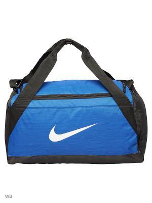 Сумки NK BRSLA S DUFF Nike. Цвет: синий, черный