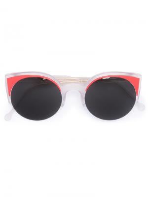 Солнцезащитные очки Lucia Surface Coral Retrosuperfuture. Цвет: красный