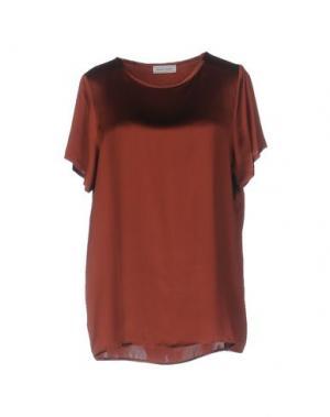 Блузка BRUNO MANETTI. Цвет: коричневый