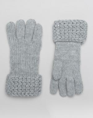 Boardwalk Вязаные перчатки Boardmans. Цвет: серый
