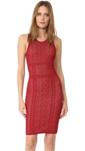 Кружевное платье-свитер без рукавов Ali & Jay. Цвет: оранжевый