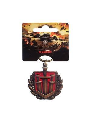 Брелок металлический Братья по оружию World of Tanks. Цвет: бронзовый