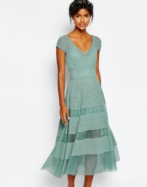 Body Frock Платье-тюльпан Wedding. Цвет: зеленый