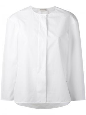 Рубашка без воротника Veronique Leroy. Цвет: белый
