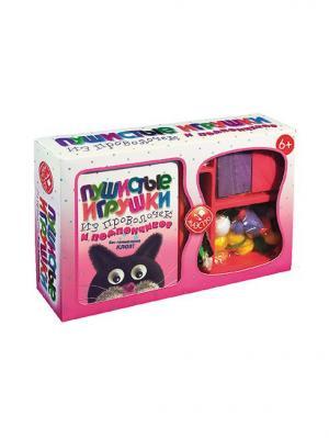 Пушистые игрушки из проволочек и помпончиков Fun kits. Цвет: белый