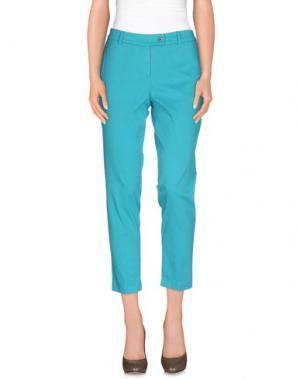 Повседневные брюки SAISON. Цвет: бирюзовый