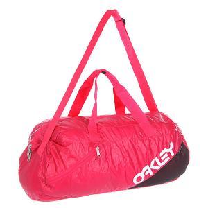 Сумка спортивная  Factory Lite Duffel Hibiscus Oakley. Цвет: розовый