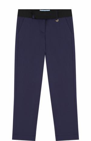Трикотажные брюки с поясом Lanvin. Цвет: синий