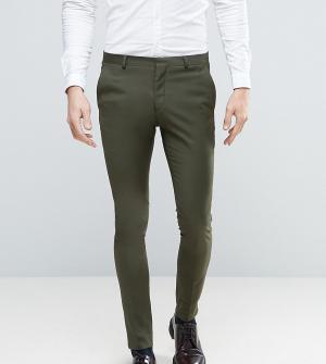 Heart & Dagger Супероблегающие брюки цвета хаки. Цвет: зеленый