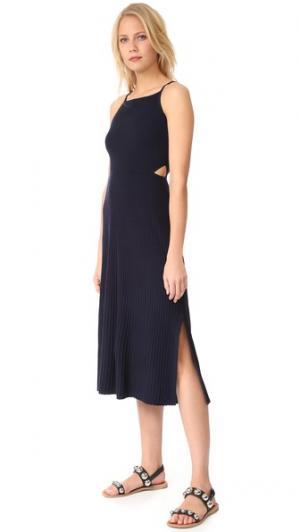 Широкое платье Josette в стиле фартука Elizabeth and James. Цвет: темно-синий