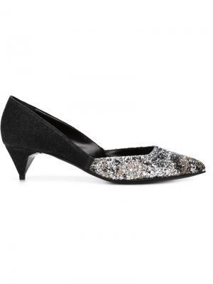 Туфли с блестками Pierre Hardy. Цвет: чёрный