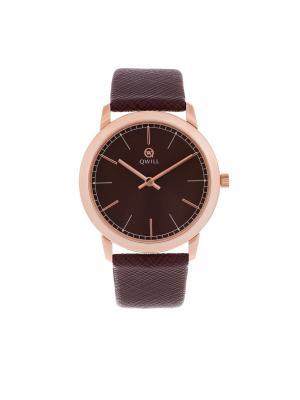 Часы ювелирные коллекция Q-Style, QWILL, Часовой завод Ника QWILL. Цвет: коричневый