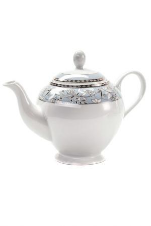 Чайник CLASSE 1,2 л La Rose des Sables. Цвет: белый, серебряный, голубой