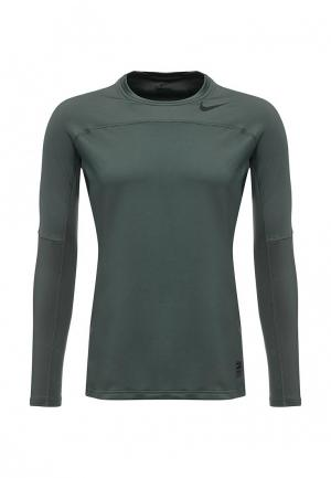 Лонгслив компрессионный Nike. Цвет: зеленый