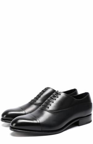 Классические кожаные оксфорды Ermenegildo Zegna. Цвет: черный
