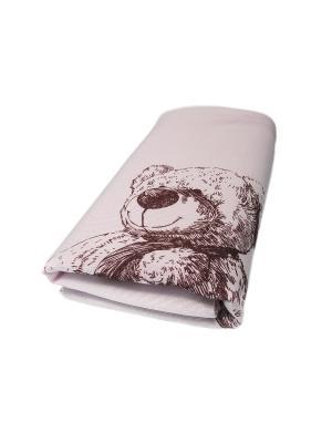 Плед Мишка вязаный Сонный гномик. Цвет: розовый