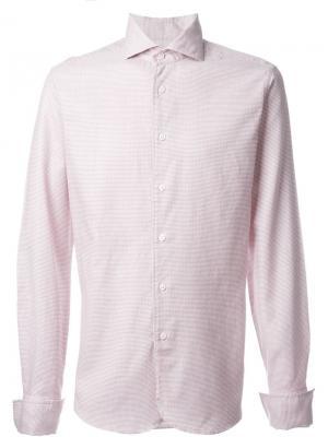 Рубашка с мелким принтом Al Duca D'Aosta 1902. Цвет: красный