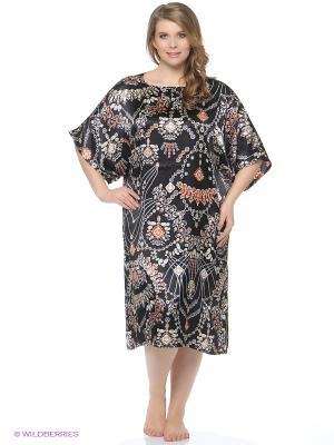 Платье - туника Del Fiore. Цвет: бежевый, черный