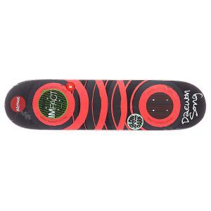 Дека для скейтборда  S5 Daewon Glow x Dark Impact Orange 31.7 8.0 (20.3 см) Almost. Цвет: серый,оранжевый