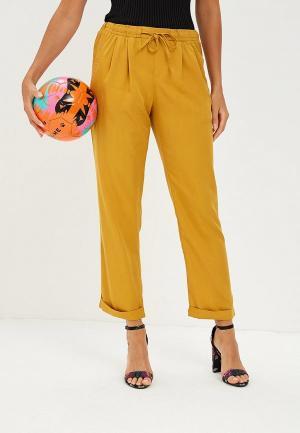 Брюки Nice & Chic. Цвет: желтый