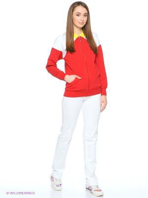 Куртка Grishko. Цвет: красный, белый