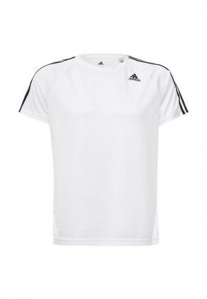 Футболка спортивная adidas. Цвет: белый