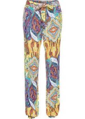 Широкие брюки (коричневый с узором) bonprix. Цвет: коричневый с узором