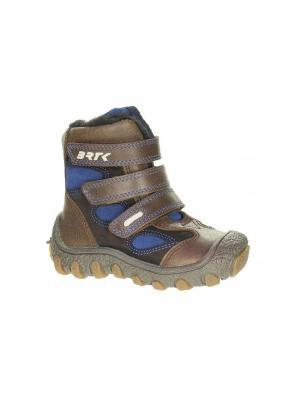 Ботинки Bartek. Цвет: коричневый,синий