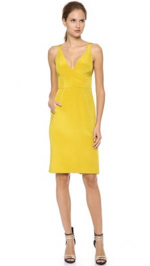 Платье без рукавов с V-образным вырезом J. Mendel. Цвет: мох