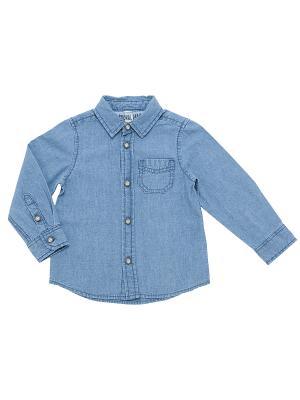 Рубашка CHICCO. Цвет: синий
