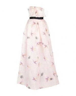Длинное платье DANIELE CARLOTTA. Цвет: светло-розовый