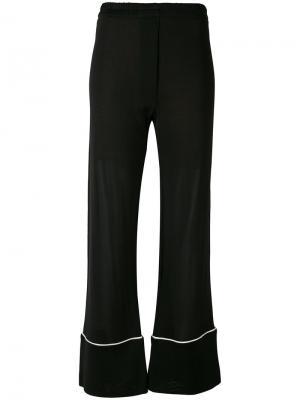 Широкие брюки Laneus. Цвет: чёрный