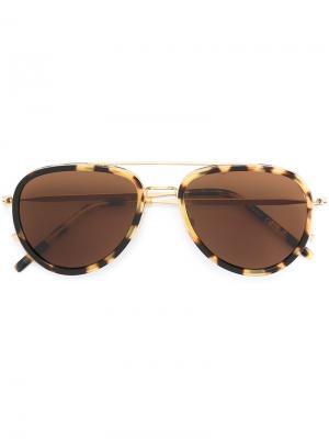 Солнцезащитные очки Tomas Maier Eyewear. Цвет: коричневый