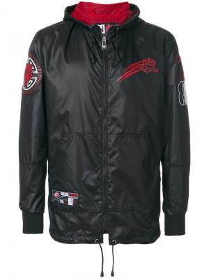 Куртка в спортивном стиле с капюшоном Plein Sport. Цвет: чёрный