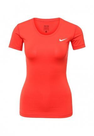 Футболка спортивная Nike. Цвет: красный
