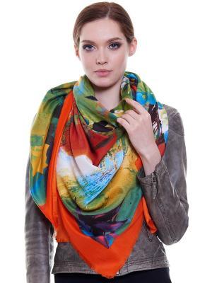 Платок Ribello. Цвет: зеленый, голубой, оранжевый
