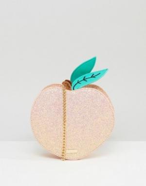 Skinnydip Сумка через плечо в виде персика. Цвет: оранжевый