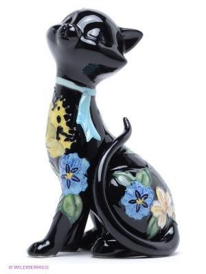 Фигурка Кот Pavone. Цвет: черный, зеленый, голубой