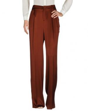Повседневные брюки GUCCI. Цвет: коричневый