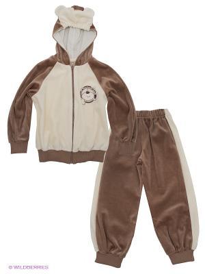 Спортивный костюм Лео. Цвет: светло-коричневый, молочный