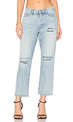 Укороченные прямые джинсы jane b Siwy. Цвет: none