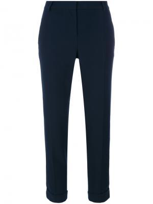 Укороченные узкие брюки Carven. Цвет: синий