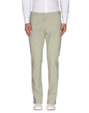 Повседневные брюки B SETTECENTO. Цвет: светло-зеленый
