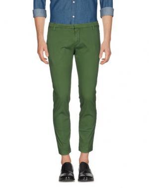 Повседневные брюки MASSIMO BRUNELLI. Цвет: зеленый