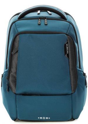 Синий рюкзак с широкими лямками Samsonite. Цвет: синий