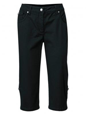 Моделирующие джинсы-капри. Otto. Цвет: черный
