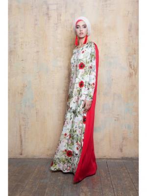 Платье летнее из штапеля двухцветное Bella kareema